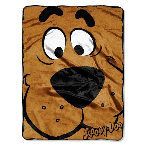 "Warner Bros ""Scooby Doo, Close Canine"" Micro Raschel Throw, 46 By 60-Inch"