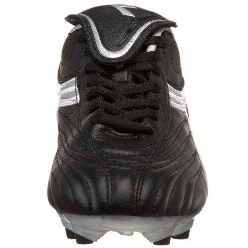 Diadora Women's Stile 10 LT MG 14 Soccer Shoe,Black/White/Silver,9 M US
