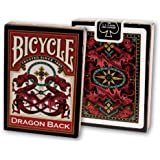 """Bicycle Vintage """"Dragon Back"""" Deck with Gaff Card Red"""