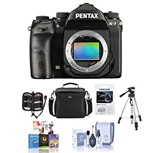 Pentax K-1 Digital SLR Camera Body - Bundle With Camera Case, 32GB SDHC U3 Card, Tripod, Cleaning Kit, Memory Wallet, Software Package