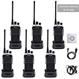 Walkie Talkies Baofeng Radio BF-888S Plus UHF Walkie Talkies 6 Pack Upgrade Version of BF-888S Two Way Radios for Adults Trolling Camping Hiking Hunting Travelling (with Free Programming Cable and Cd)