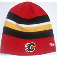 Calgary Flames Uncuffed Knit Hat by Reebok KE07Z