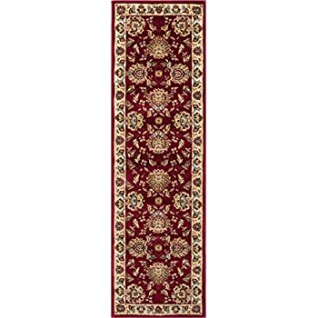 """Sultan Sarouk Red Persian Floral Oriental Formal Traditional 2x7 (23"""" X 73"""") Runner Rug Stain / Fade Resistant Contemporary Floral Thick Soft Plush Hallway Entryway Living Dining Room Area Rug"""