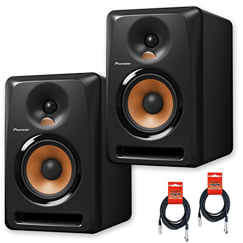 Pioneer DJ Bulit8 Active Reference 8-Inch Monitors - Black - Pair w/ 20ft XLR Cables - Bundle (Studio Monitors 8 Package compare prices)
