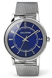 Collezione Round Face Analogue Mesh Bracelet Watch