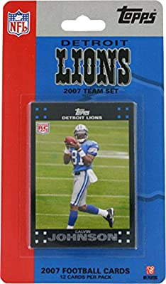 2007 Topps Detroit Lions Team Set Trading Cards (12 Cards)