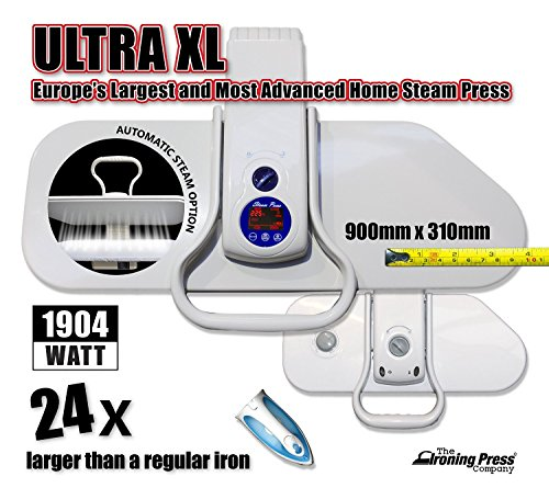 Speedy Press Oversized Iron Press - Delivers100 Lbs. of Pressing Pressure with Multiple Steam and Temperature settings. Superior Quality! (Laundry Steamer Machine compare prices)