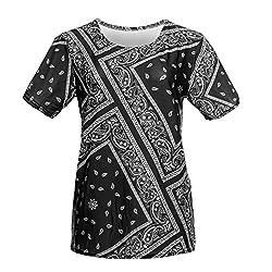 Mens Full Print T-shirt Summer Top Party Tee Clubbing Jersey Bandana Pug Galaxy Holiday