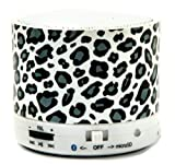 Blue Monkey Snow Leopard Funkpod with 2GB Micro SD Card INCLUDED - Rechargeable Portable Wireless Bluetooth V4.0 Speaker with 2GB Micro SD Card included. Suitable for Apple Iphone, Ipod, Ipad, Touch, Nano, ANDROID, Samsung Galaxy, Mobile Phones, Tablets,