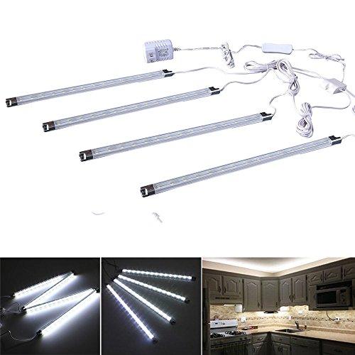 Efrank Set of 4 LED Light Bar-Under Kitchen Cabinet Led Lamp White Energy Saving LED Strip Kit(White) (Kitchen Led Lights compare prices)