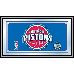 Trademark NBA1500-DP Detroit Pistons Detroit Pistons Framed Mirror With NBA Team Logo... by Trademark