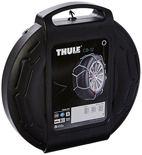 Thule 12mm CB12 Passenger Car Snow Chain, Size 080 (Sold in pairs) (Tire Chains Prius compare prices)