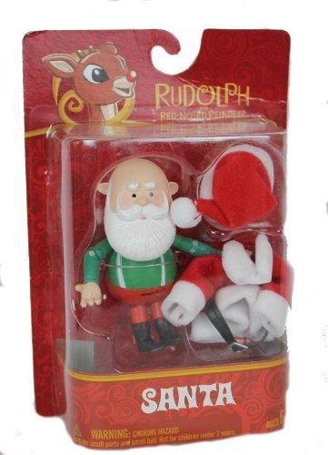 Rudolph the Red Nosed Reindeer 2013 Posable Sanata Claus Figure - 1