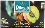 Dilmah Fun Teas, Peach, 1.41-Ounce Boxes (Pack of 6)