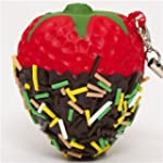 red strawberry with chocolate squishy...