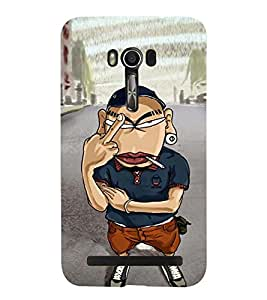 printtech Angry Boy Back Case Cover for Asus Zenfone Go::Asus Zenfone Go ZC500TG