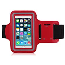 buy Iphone 6/6S Armband, Waterproof Iphone 6/6S 4.7 Armband, Sport Armband Case With Key Holder And Headphone Jack Hole For Apple Iphone 6 4.7 Inch, Iphone 6 Armband For Sports (Running, Jogging, Gym, Cycling, Walking, Fishing, Exercise,Fitness And Etc.) (Red