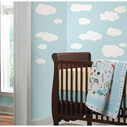 RoomMates RMK1562SCS Clouds (White Bkgnd) Peel and Stick Wall Decals (Wall Decals White compare prices)