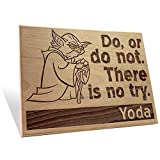 Yoda Says Plaque Large Large