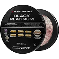 Monster Black Platinum XP Clear Jacket 100' In-Wall Compact Speaker Cable (Clear/Copper)