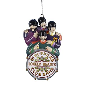 THE BEATLES SGT PEPPERS LONELY HARTS CLUB BAND CHRISTMAS ORNAMENT