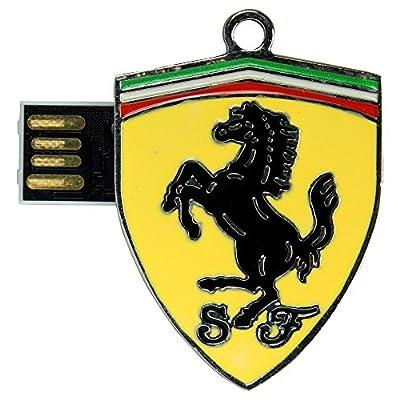 Pen Drive Ferrari Logo Shape Metal 16 GB USB 2.0 Pen Drive ZT14074
