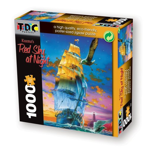 TDC Games Eco Friendly Puzzle - Red Sky at Night