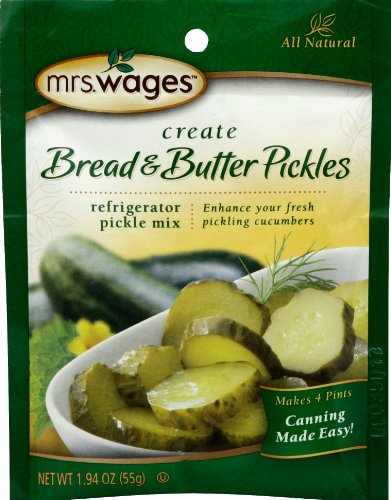 Mrs. Wages Bread and Butter Refrigerator Pickle Mix, 12 - 1.9-Ounce Pouches
