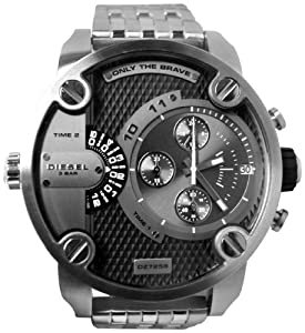 Diesel SBA Dual Time Zone Stainless Steel Men's Watch - DZ7259