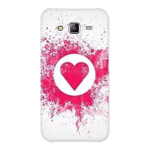 Premium Splash Heart Back Case Cover for Samsung Galaxy J5