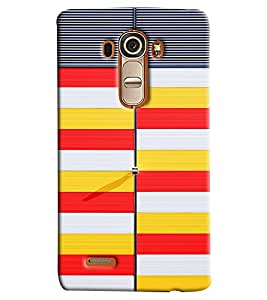 Blue Throat Yellow White And Red Stripes Hard Plastic Printed Back Cover/Case For LG G4
