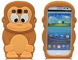LliVEER Brown Cute 3d Monkey Gorilla Silicone Soft Case Cover Skin for Samsung Galaxy S3 I9300