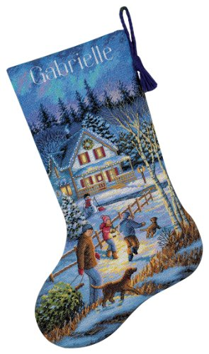 Dimensions Needlecrafts Counted Cross Stitch, Christmas Eve Fun Stocking
