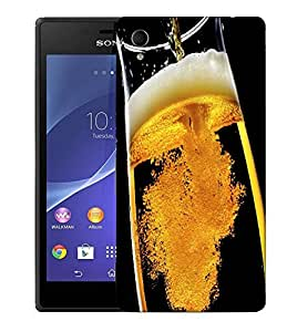 Snoogg Pouring Beer Designer Protective Back Case Cover For SONY XPERIA M4