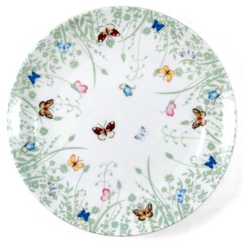 Ashdene Tranquil Butterfly Sage Bone China Side Plate, Set Of 2