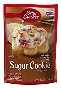 Betty Crocker Cookie Mix, Sugar, 17.5-Ounce Pouches (Pack of 12)