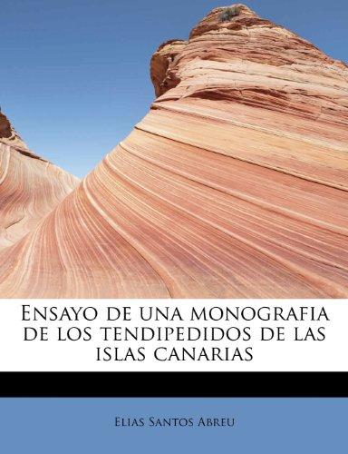 Ensayo de una monografia de los tendipedidos de las islas canarias
