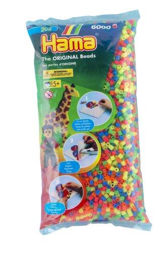 Imagen principal de Hama 205-52 - Lote de perlas (6000 unidades), colores flúor variados