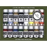 Vallejo Basic USA Colors Paint Set, 17ml (Limited Edition) (Color: Limited Edition)