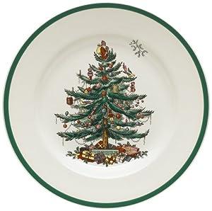 #!Cheap Spode Christmas Tree 10-1/2-Inch Dinner Plates, Set of 4