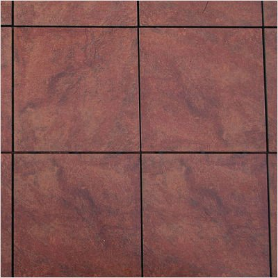 Porcelain Interlocking Deck Tiles - Tuscan Red