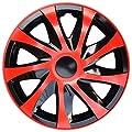 4 X Radabdeckungen Radkappensatz in 16 ZOLL Schwarz-Rot Farbe