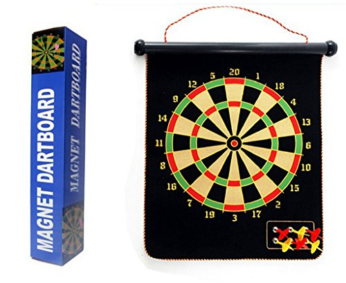 Magnetic Roll-up Dart Board and Bullseye Game w/ Darts (Target Dart Board compare prices)