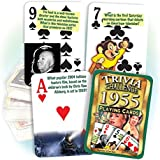 1955 Trivia Playing Cards: 61st Birthday or 61st Anniversary Gift