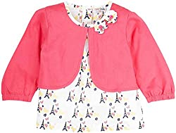 Infant Girls Printed Blouse With Mock Shrug, Multi Colour (2-3 Years)