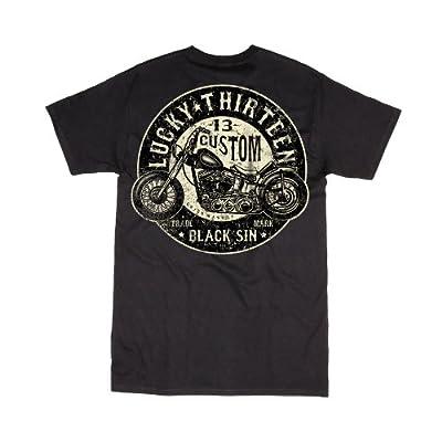 Men's Lucky 13 Apparel Black Sin T-Shirt Black