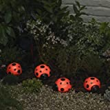 Smart Solar 3656MRM4 Ladybug Solar 4-Pack Red Light Set
