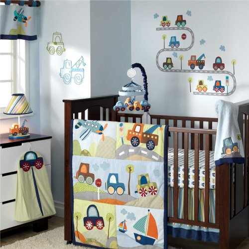 Amazing Little Traveler Piece Baby Crib Bedding Set with Bumper by Lambs Ivy