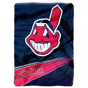MLB Cleveland Indians Raschel Plush Throw Blanket, Speed Design by Northwest