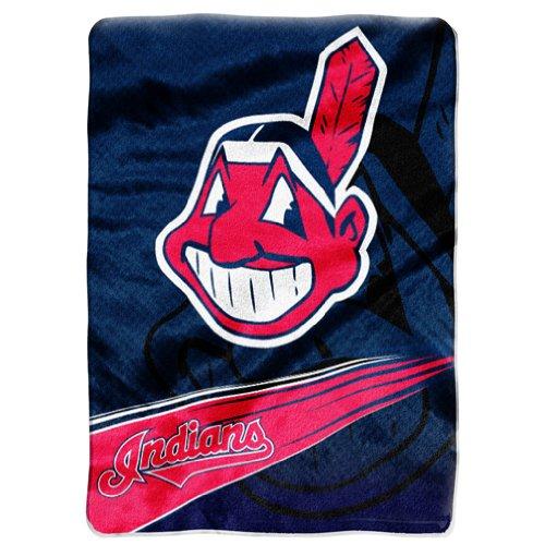 Mlb Cleveland Indians Raschel Plush Throw Blanket, Speed Design front-503924